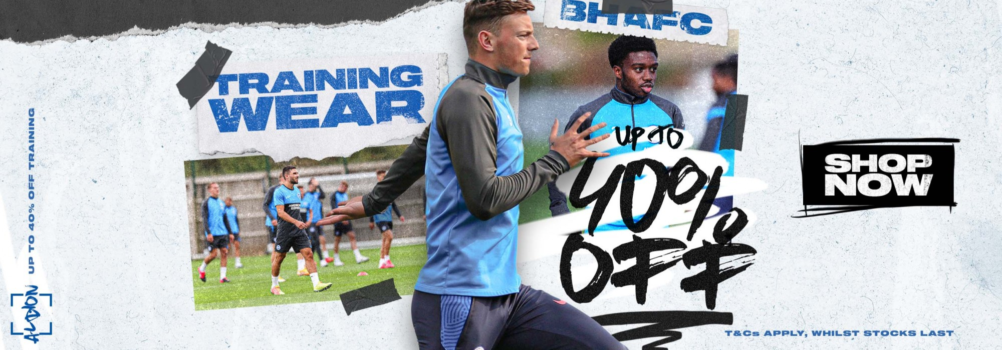 Up to 40% off selected training wear