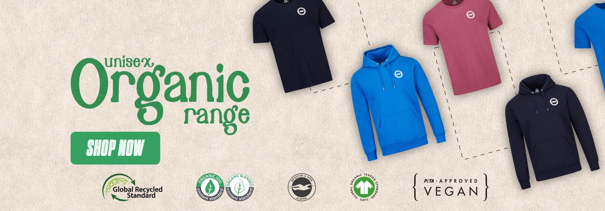 New Organic Unisex Range, Buy Now!
