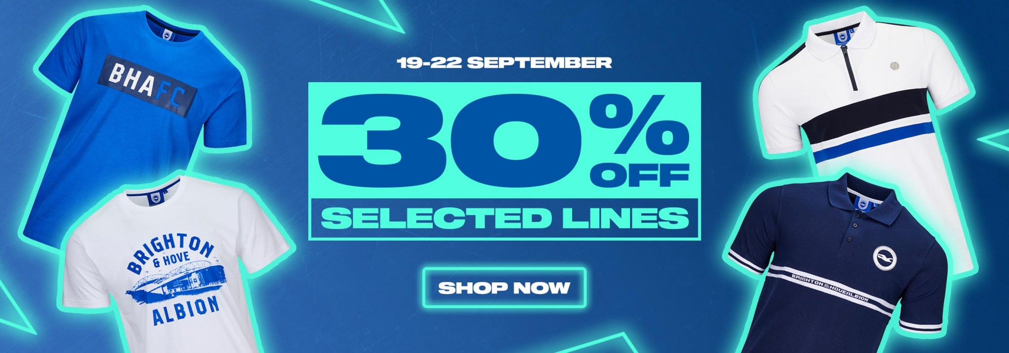 30% off selected fashion