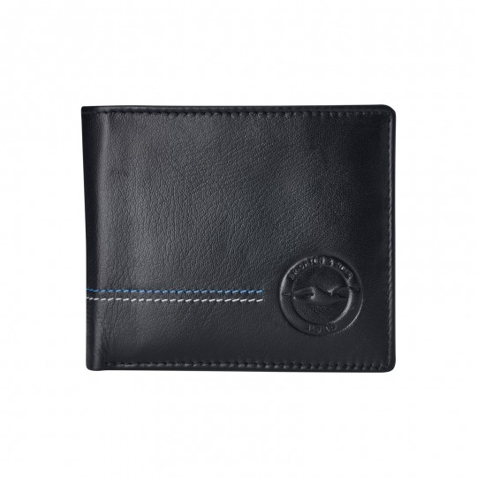 ES40 BLACK LEATHER WALLET