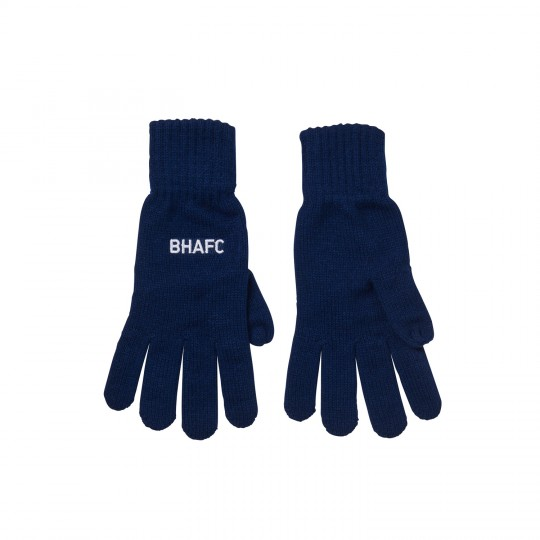 ADULTS NAVY BHAFC GLOVES