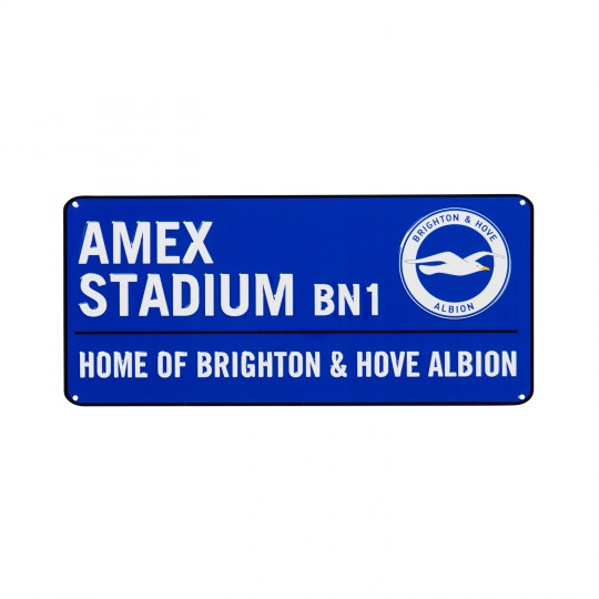 HOME OF BRIGHTON & HOVE ALBION STREET SIGN
