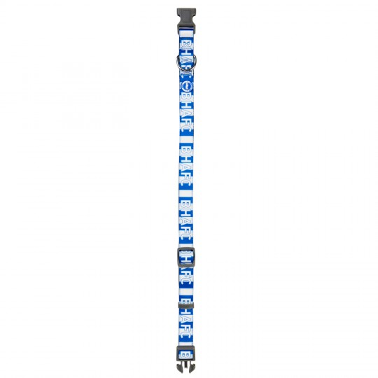 STRIPED BHAFC DOG COLLAR