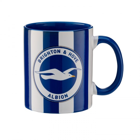 BLUE STRIPED BAR MUG