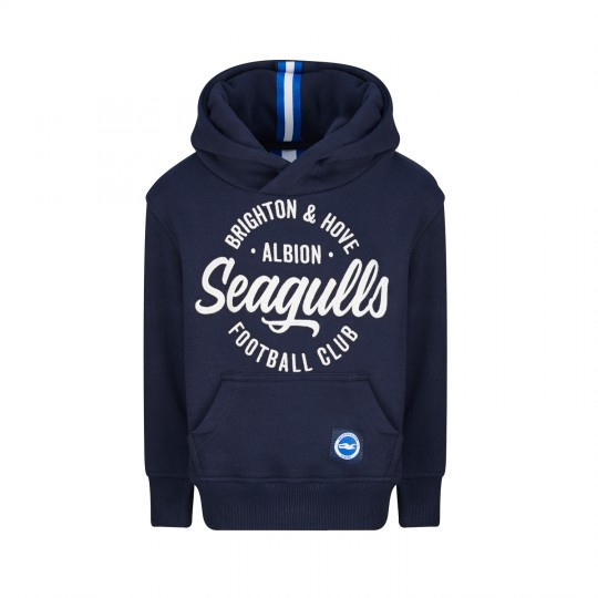 Junior Navy Seagulls Wrapped Hoodie