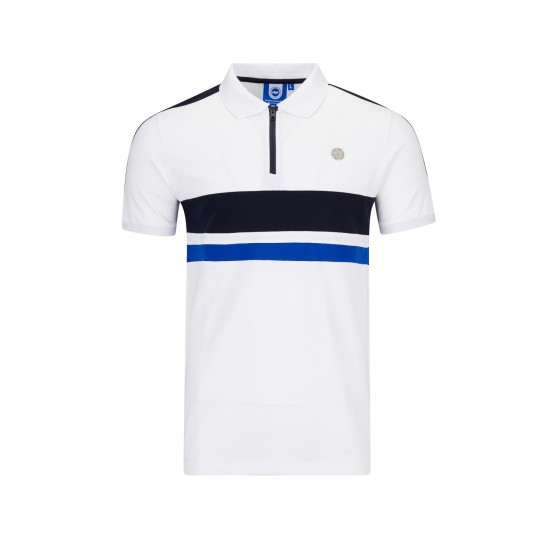 White 1/4 Zip Polo