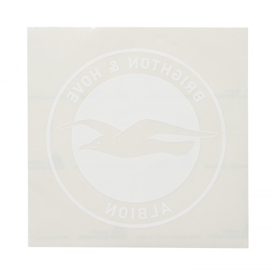Large Frosted Crest Car Sticker