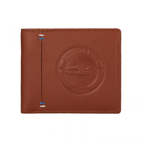 Brown Crest Leather Wallet 143