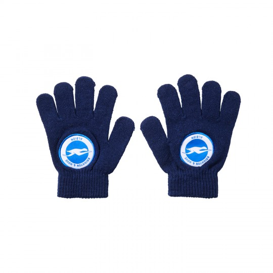 Youth Navy Crest Gloves