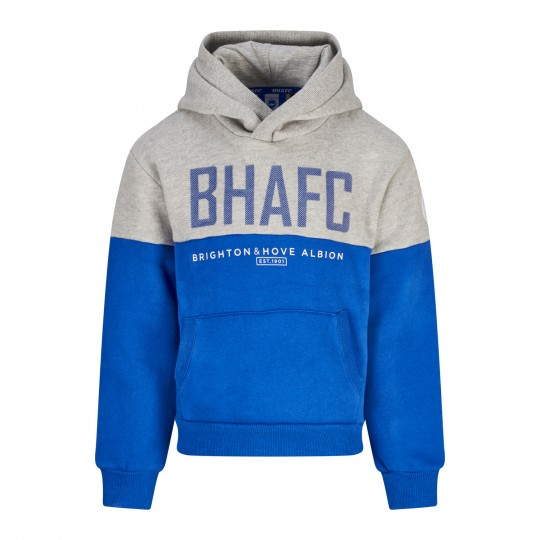 Junior BHAFC Grey & Royal Panel Hoodie