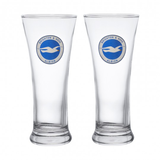 BHAFC 2 PACK HALF PINT GLASS