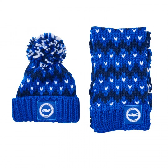 APPLEBY KIDS HAT AND SCARF SET