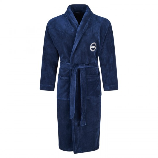 ADULT NAVY DRESSING GOWN