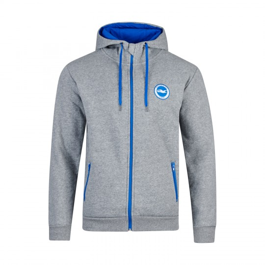 GREY COLOUR ZIP HOODIE