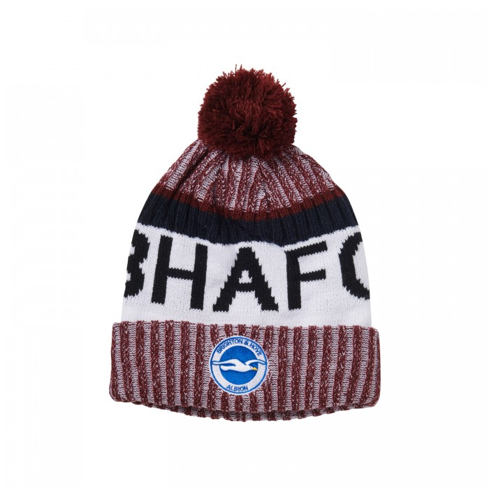 BURGUNDY BHAFC BOBBLE HAT