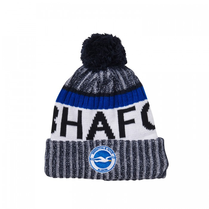 BLUE BHAFC BOBBLE HAT