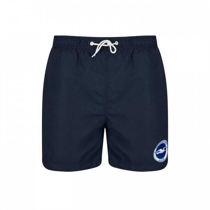NAVY CREST SWIM SHORTS