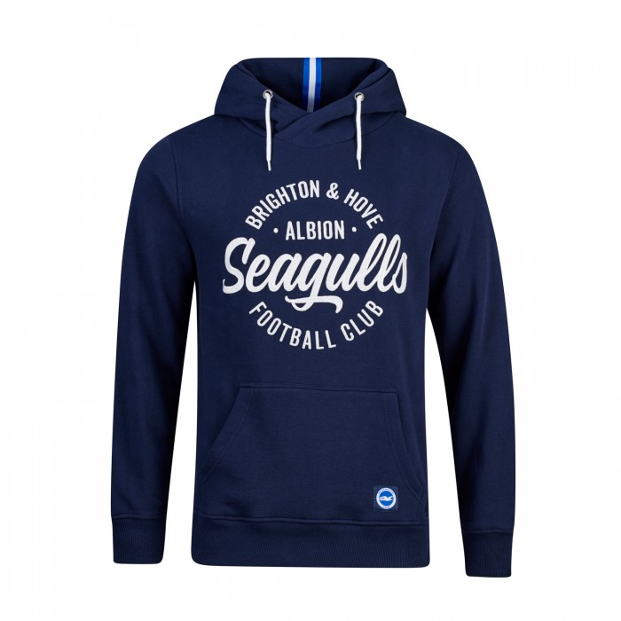 SEAGULLS NAVY WRAPPED HOODIE