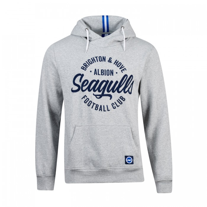 Seagulls Grey Wrapped Hoodie