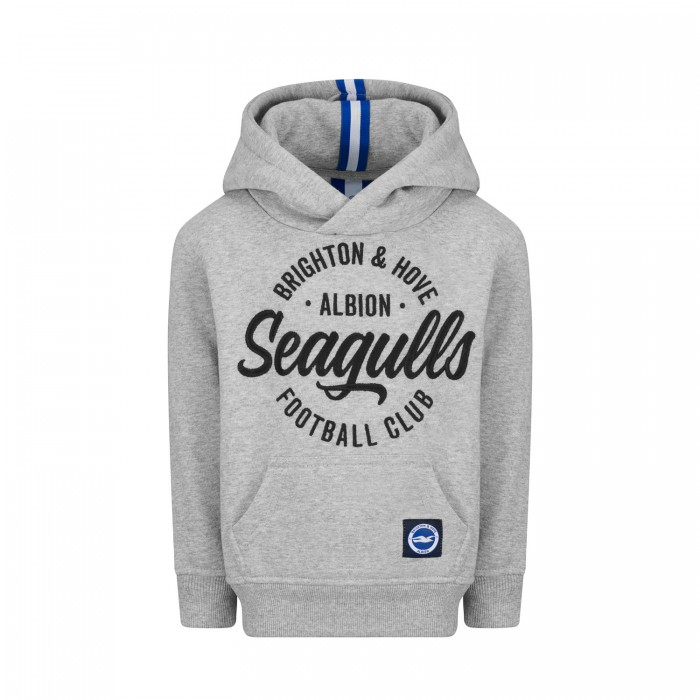 JUNIOR GREY SEAGULLS WRAPPED HOODIE