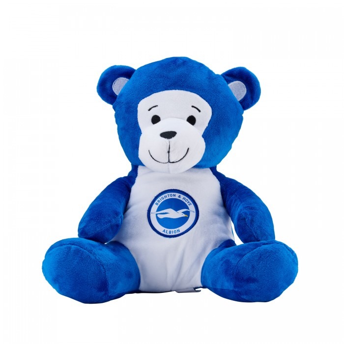 LARGE BLUE & WHITE BEANIE BEAR