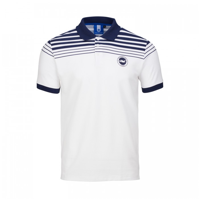White & Navy Polo