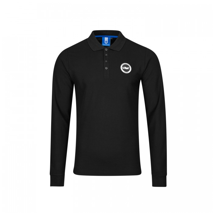 BLACK LONGSLEEVE POLO
