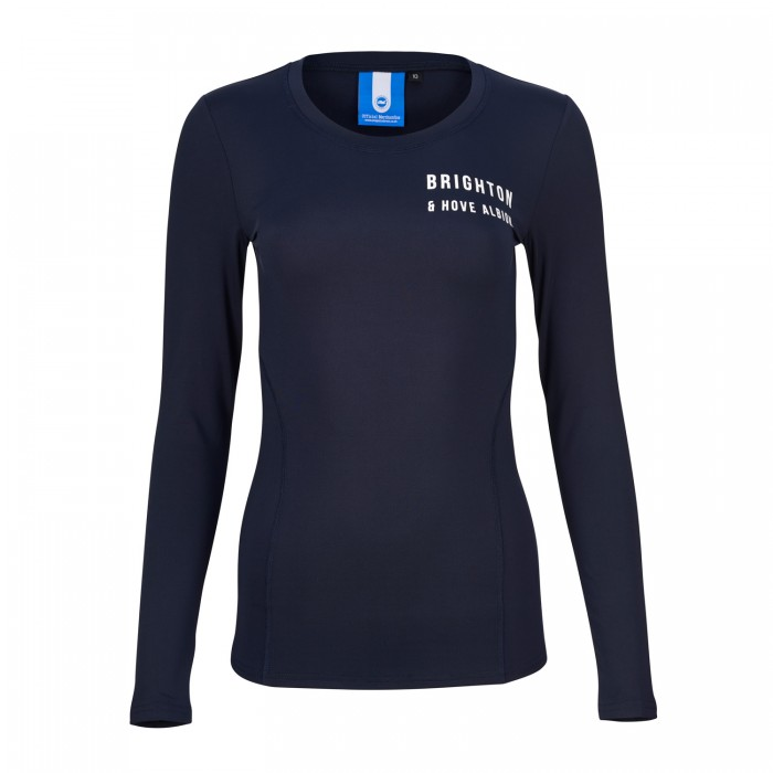 WOMENS NAVY LONGSLEEVE ACTIVE TEE