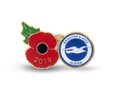 BHAFC 2019 POPPY PIN BADGE