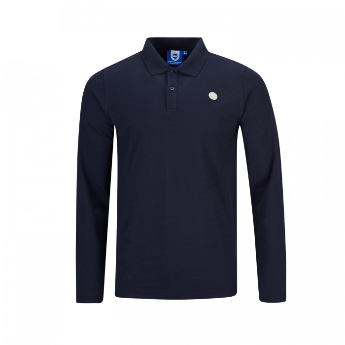 Navy Long Sleeved Polo