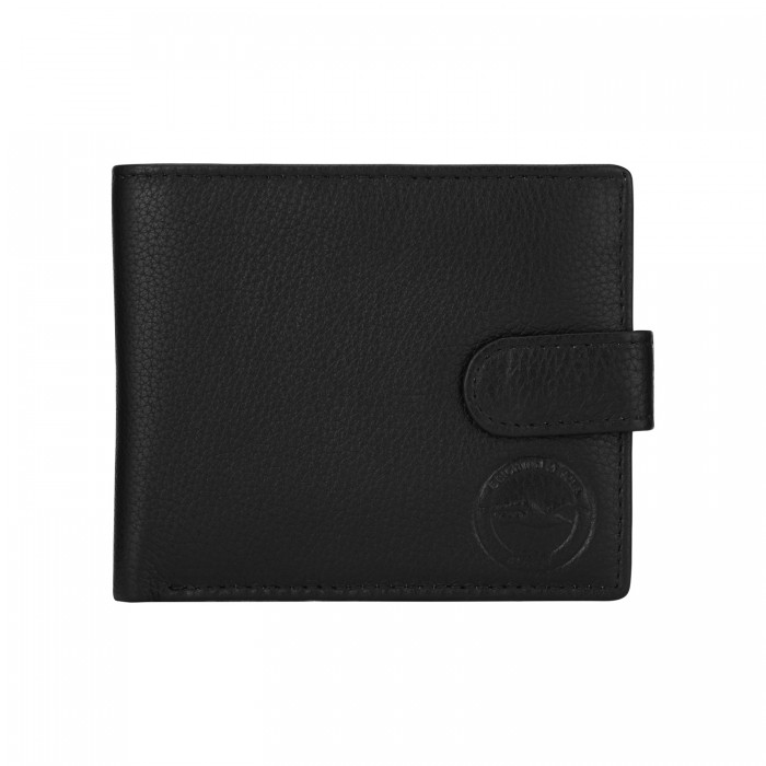 Black Popper Leather Wallet 189