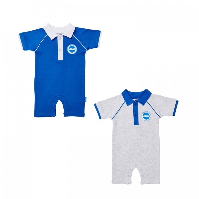 2 Pack Polo Romper Suit