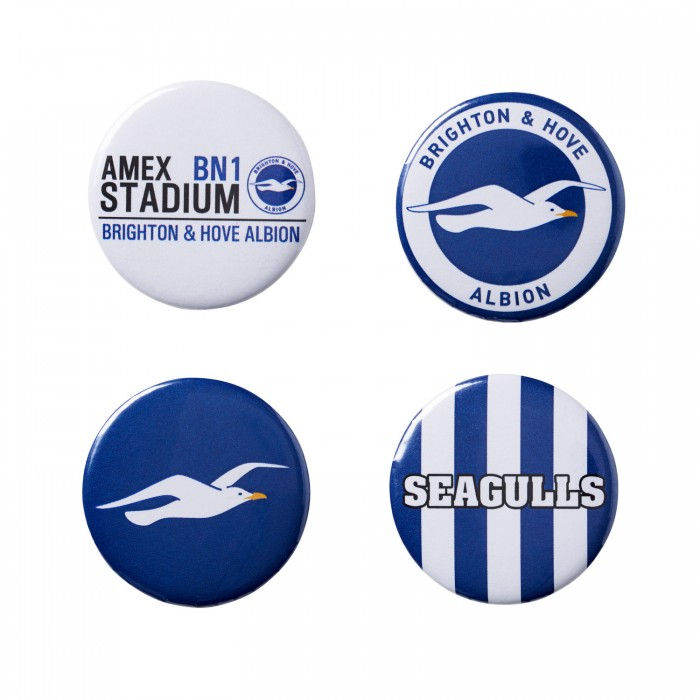 4 PACK BUTTON BADGES