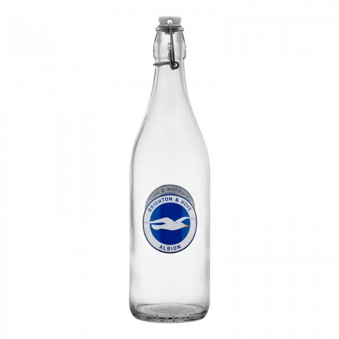 CREST GLASS WATER BOTTLE
