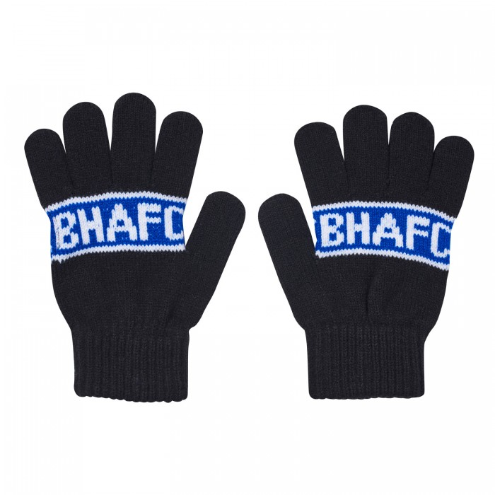 BHAFC ADULTS BLACK  GLOVES