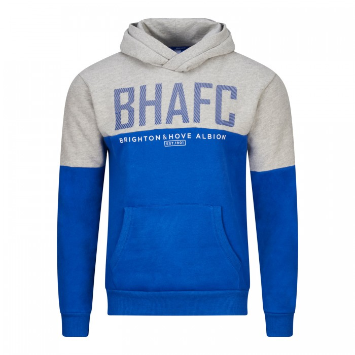 BHAFC GREY & ROYAL PANEL HOODIE